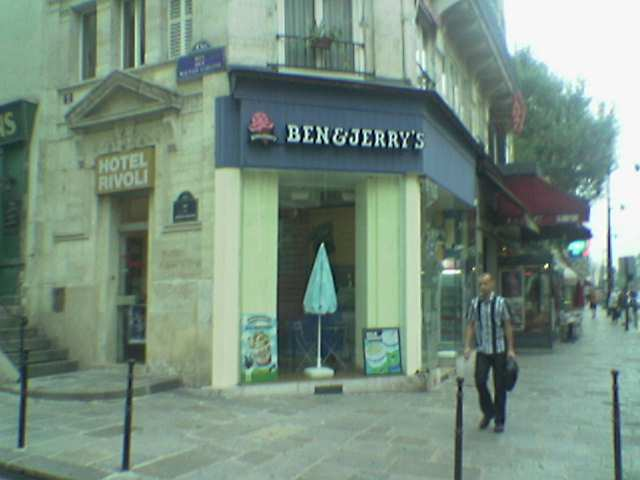 I had never noticed Ben & Jerry's in Paris before